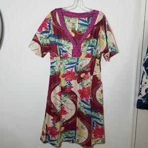 Maeve kimono silk dress